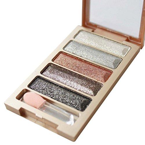 Tefamore 5color glitter, ombretto, ombretto, palette