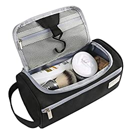 Eono by Amazon – Hanging Toiletry Bag for Men and Women Travel Wash Bag Waterproof Cosmetic Bag Beauty Case Makeup Bag Travel Pouch Bag Toiletry Organizer Gym Shower Bag and Men`s Shaving Bag