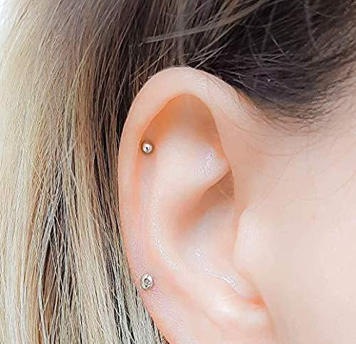 Helix Stud Cartilage Super Tiny Dot Earring Piercing 2mm 3mm 4mm
