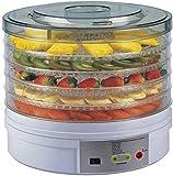 TXOZ-Q Máquina de deshidratador de alimentos premium, pantalla LCD, espacio de secado eficiente, 5 bandejas de acero inoxidable/temporizador digital y control de temperatura for verduras/carne/h