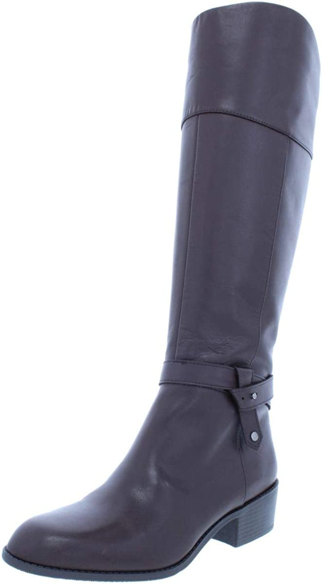 Alfani Womens Berniee Leather Round Brand Cheap Sale Venue Knee unisex Toe Boots Fashion High