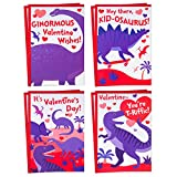 Hallmark Valentines Day Cards Assortment for Kids, 8 Valentine's Day Cards with Envelopes (Dinosaurs)