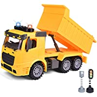 FUN LITTLE TOYS Construction Friction Powered Dump Truck Toy