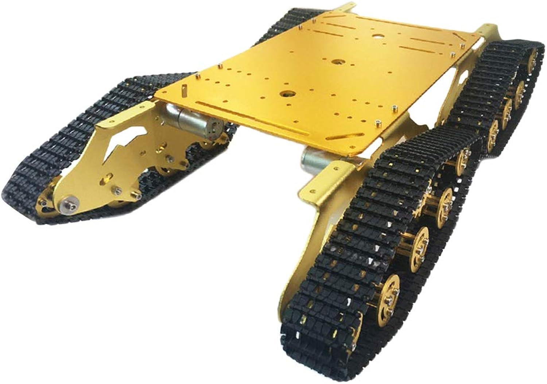 Almencla 4WD Crawler Metal Tank Car Unterfahrschutz Gold DIY Robot Kits