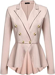 d501f4f0c7d Kasen Abrigo Mujer Blazer Americana Traje Slim Chaqueta del Traje OL Mujeres  Botón de Metal