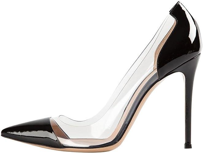 DYF La Femme Nue, de Chaussures Haut Talon Extra Fines de Lumière Grand Format,noir,41
