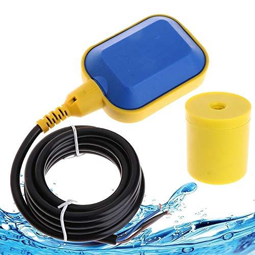 YUNYODA Schwimmschalter, 5M Kabel Wasserstandsregler 250V Automatischer Schwimmerschalter Wasserstandsregelung Schwimmerschalter Pumpe Tauchschalter Wechsler Sumpfpumpenzubehör für Wassertank