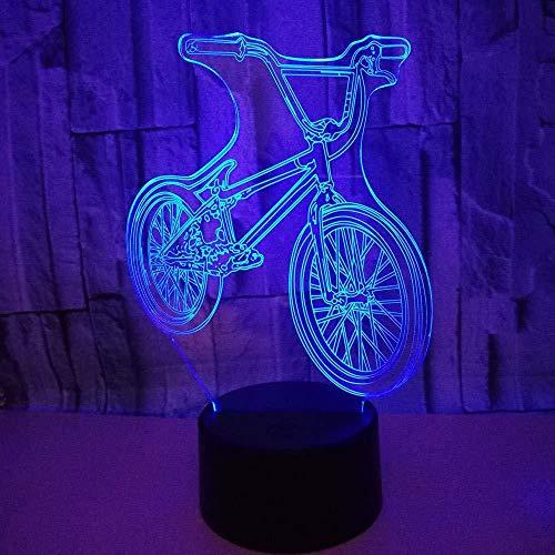 Led-nachtlampje, fiets, 3D optische bedrieglamp, versieren kinderkamer voor kinderen, cadeaus, schrijftafel, decoratie