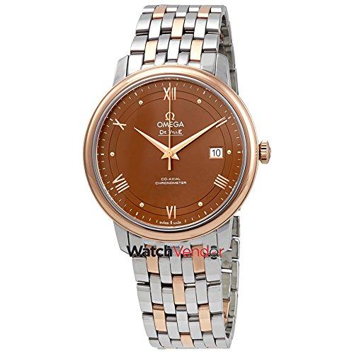 Omega De Ville Prestige cronometro automatico quadrante marrone Mens Watch 424.20.40.20.13.001