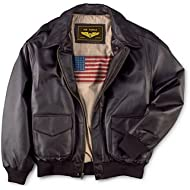 Landing Leathers Men's Air Force... Landing Leathers Men's Air Force A-2 Leather Flight Bomber Jacket (Regular Big & Tall)