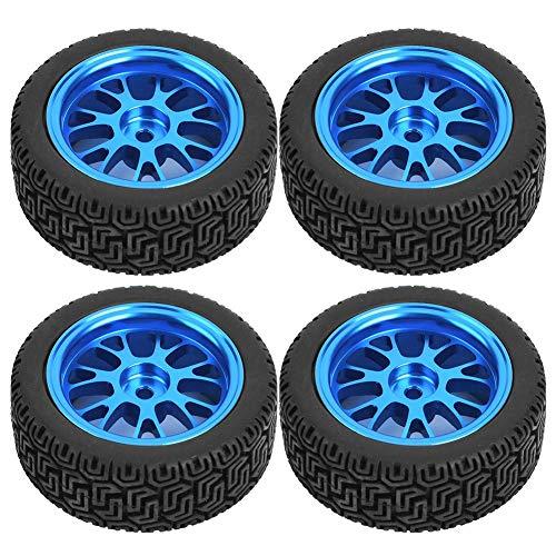 Drfeify Neumáticos de Coche RC, 1/18 Neumáticos 7 en Forma de Llanta RC Azul Metal Parte de Rueda de Llantas en Forma de Y para WL A959 A979 A969 Modelo de Accesorio de Coche