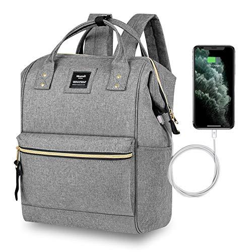 Hethrone Laptop Backpack 15.6 Inch Water Resistant School Backpack Wide Open Travel Work Rucksack Bag Casual Daypack for Women Men (Matte Grey -2)