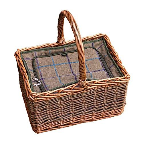 Deluxe Butchers rieten picknickmand met Ingericht Cooler