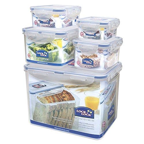 Lock & Lock HPL829SB 5-Pièces Boîtes alimentaires 5 Pièces