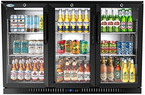 KoolMore BC 3DSW BK 3 Door Back Bar Cooler Counter Height Glass Door Refrigerator with LED Lighting product image