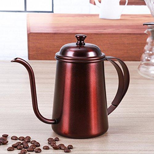 FLAMEER Teekessel Wasserkessel Wasserkocher - Roter Kupfer, 16,5 x 9,5 cm