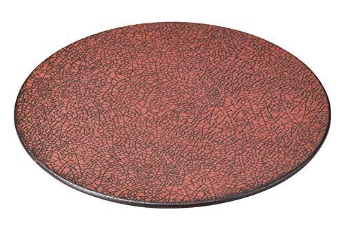 柿赤 20cm平丸皿 [ 20.5 x 1cm ] [ 中皿 ] | 飲食店 和食 旅館 料亭 ホテル 業務用