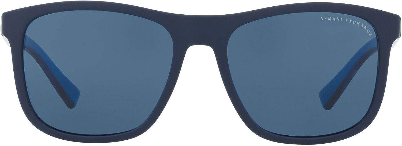 AX Armani Exchange Men's Ax4049sf Asian Fit Square Sunglasses