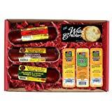 The Man's Snacker Sausage, Cheese & Cracker Gift Basket. 100% Wisconsin Cheese and Sausage Gift. Best Christmas Gift for the Holiday Season. with Amazon Prime.