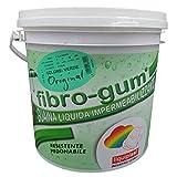 Fibrogum - 10KG VERDE - Vernice impermeabilizzante guaina liquida elastomerica e sigillante