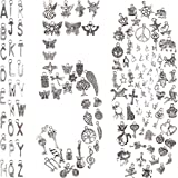 BIHRTC 150PCS Mixed Silver Charms Jewelry Making DIY Bracelet Necklace Pendants A-Z Alphabet Charms Assorted for Jewelry Bracelet Earing Keychain Crafting Making Supplies