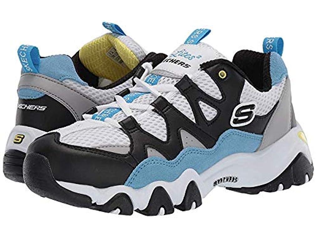 [スケッチャーズ] レディーススニーカー?靴?シューズ D'Lites 2 - Wild Summers White/Black/Blue US 5.5 (22.5cm) B - Medium [並行輸入品]