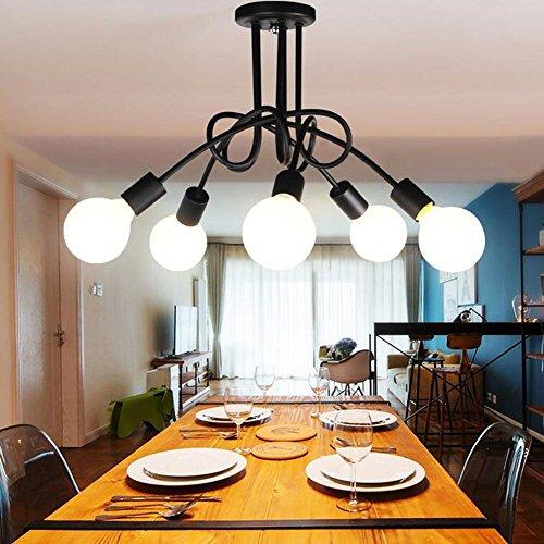 Lamparas de Techo Vintage, DIY de 5 Lámparas del Hierro del metal de las lámparas Lámpara Industrial de la Lámpara de Techo E27 Salón Retro del Comedor Hotel Hogar Accesorios de Iluminación