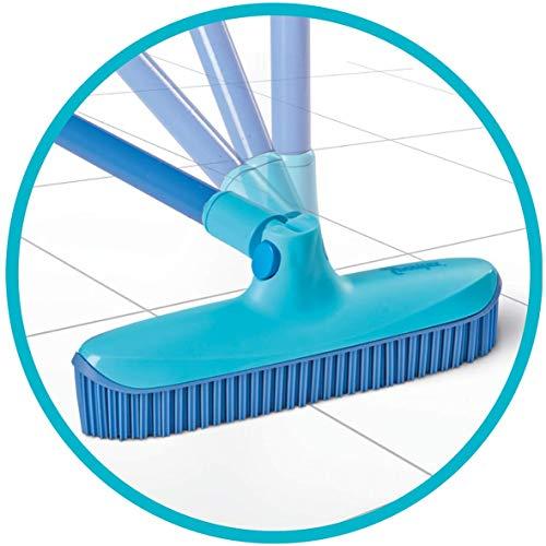 Spontex Catch & Clean, Kehrbesen mit Gummiborsten, Teleskopstiel und praktischem Auffangbehälter, hygienische und effiziente Reinigung für alle Bodenbeläge, 1 Set - 23
