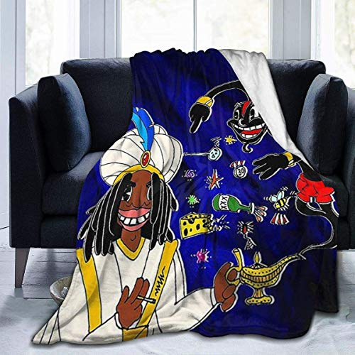 Lil Darkie Manta súper suave, manta de felpa ligera, adecuada para adultos y niños para usar 60 x 50 pulgadas