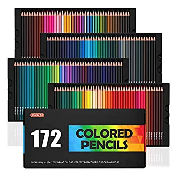 172 Colored Pencils Shuttle Art Soft Core Color Pencil Set for Adult Coloring Books Artist Drawing Sketching Crafting