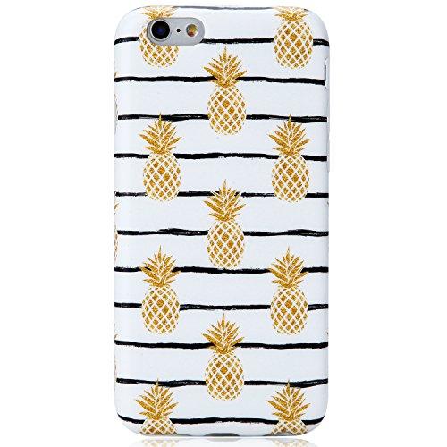 Cute iPhone 6 Case,iPhone 6s Case, VIVIBIN Cute Pineapples for Women Girls Clear Bumper Best Protective Soft Silicone Rubber Matte TPU Cover Slim Fit Best Phone Case for iPhone 6/iPhone 6s