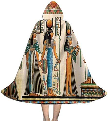 Romance-and-Beauty Capa para niños Capa con Capucha Reina egipcia Primitiva ISIS Vintage Unisex Capa con Capucha Abrigo Capa de Bruja Capa Larga Fiesta de Cosplay de Halloween Capa