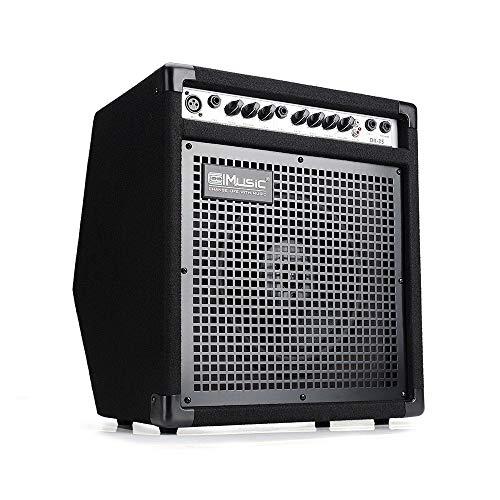 COOLMUSIC DK-35 amplificador de monitor personal de 50 W, amplificador de tambor eléctrico PA estación de trabajo, altavoz de teclado y amplificador de guitarra acústica