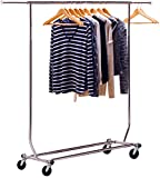DecoBros Supreme Commercial Grade Clothing Garment Rack, Chrome...