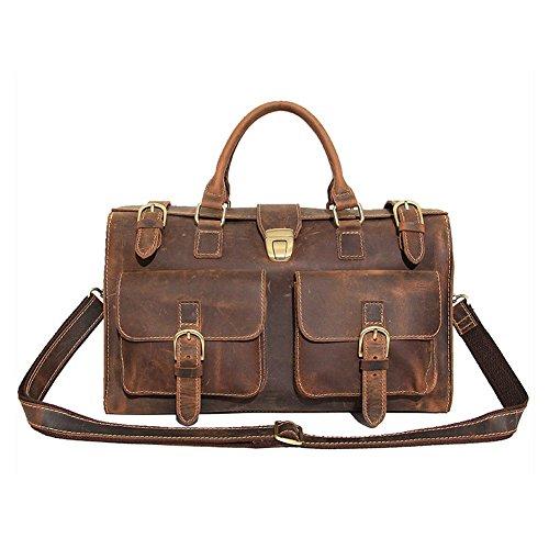 Cuir véritable sac Crazy-cheval épaule Messenger Bag Sac à main des femmes des hommes