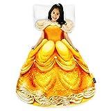 Blankie Tails | Disney Princess Dress Wearable Blanket - Double Sided Super Soft and Cozy Princess Minky Fleece Blanket - Machine Washable Fun Disney Blanket for Kids (Belle)