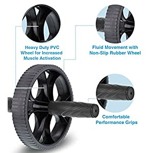 Aduro Sport Ab Roller Wheel for Core Workout Abdominal Exercise Wheel Equipment Machine Fitness Tummy Roller for Ultimate Ab Stimulation