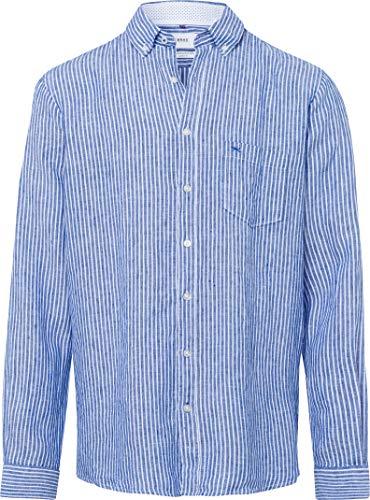 BRAX Herren Leinenhemd Dries Comfort Fit Langarm blau (51) XXL