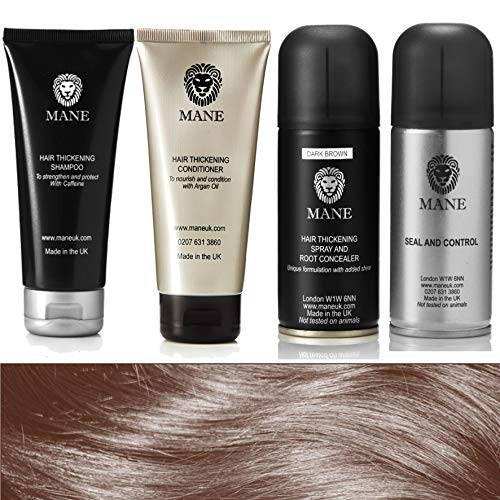 Mane Hair Thickener 100 ml Travel Pack (Dark Brown/Marron Foncé)