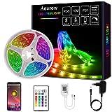 Aourow Tira de LED de 10m,Tiras de LED Bluetooth RGB con Control de APP y Control Remoto de 24 Botones,Sincronización con Música,Tira de luz SMD5050 para Fiesta,Casa,Decoración(no Impermeable)