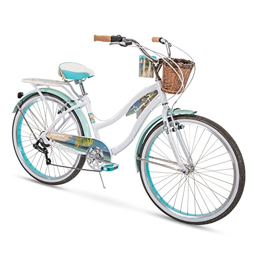 Huffy Panama Jack Beach Cruiser Bike 26 inch 6-Speed, Lightweight