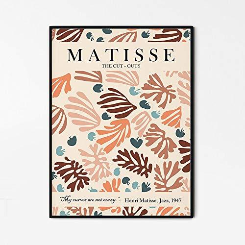 Impresión de Henri Matisse, póster de exposición de Matisse, impresión de formas abstractas, pintura familiar en lienzo sin marco A 30x45cm