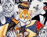 Nonebranded Pintura Al Óleo Manualidades para Pintar Hermoso Gato Animal Pintura por Numeros Adultos Niños Cuadro Lienzo DIY 40X50Cm