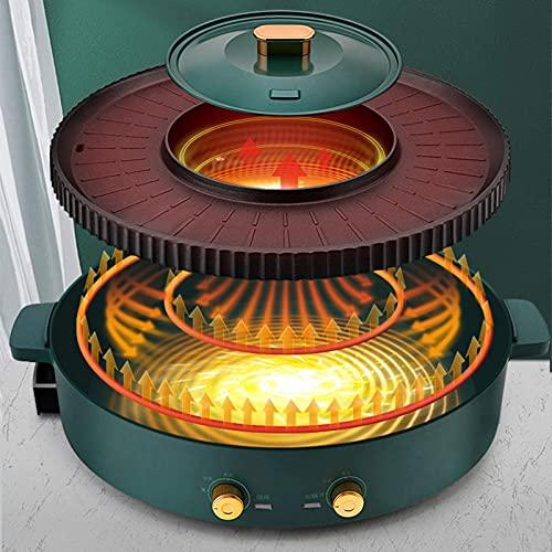 Parrilla eléctrica Olla caliente para interiores | Ajuste de fuego, Contral de...