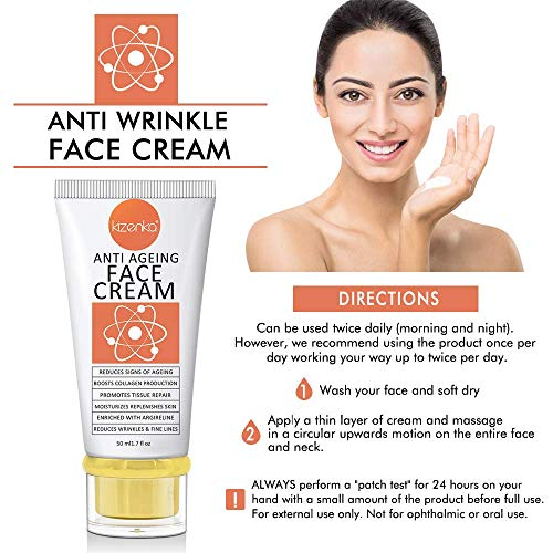 51rgZ81pmkL - POWERFUL Age Defying Face Cream, Anti Aging Moisturizer, Anti Wrinkle Cream with Matrixyl 3000 Reduces Signs Of Ageing Vitamin C Hyaluronic Acid, Dark Spots Removal Spots Hyper Pigmentation