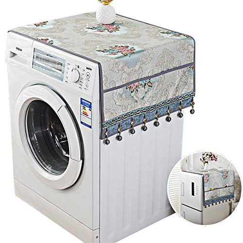 SYJYA Kühlschrank Staubschutz Waschmaschine Sonnencreme Baumwolle Eintürig Kühlschrank, Staubschutz Kühlschrank Abdeckung Waschmaschine Abdeckung,A,68cm*170cm