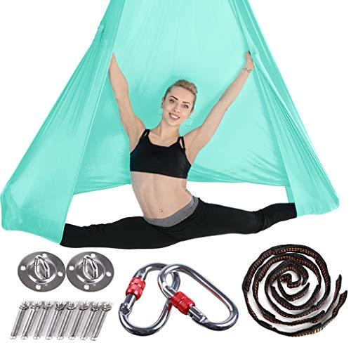 Brinny Yoga DIY Silk Pilates Premium Aerial Silks Equipment Aerial Yoga Toalla Aerial Silk Elástica Yoga Hamaca con Tela Accesorios 5 Metros