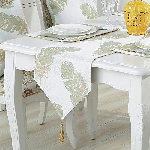 Branfan Moderne eenvoudige katoen borduurwerk tafellopers westerse tafel doek isolatie pad TV kast staart 33 * 180CM_1