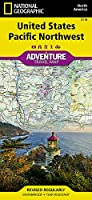 National Geographic Adventure Travel Map United States Pacific Northwest