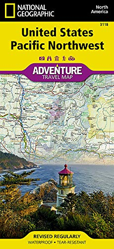 United States, Pacific Northwest (National Geographic Adventure Map, 3118)
